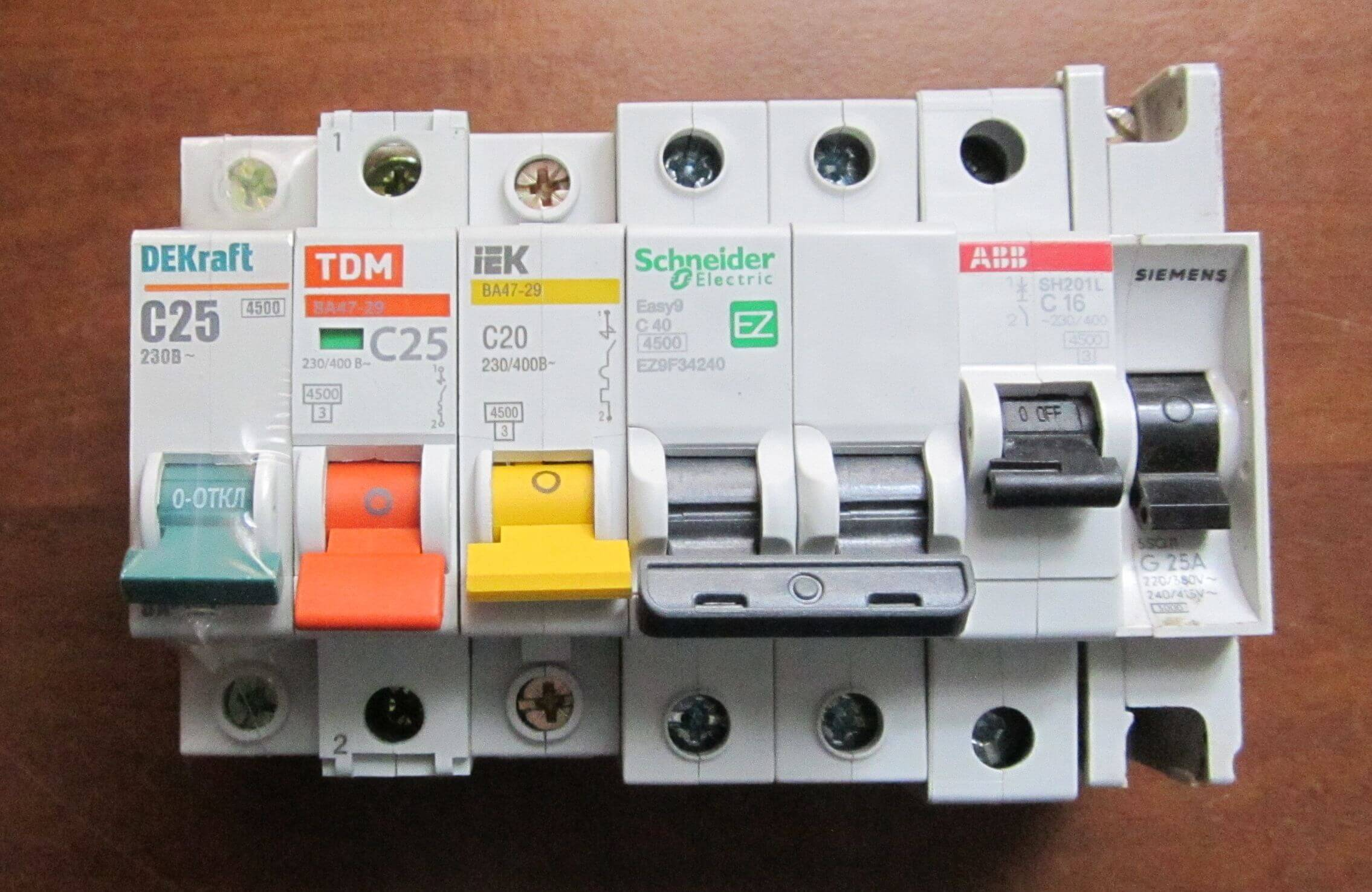 Недопустимые ошибки при покупке автоматического выключателя